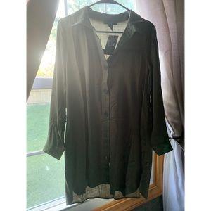 Streetwear Society button down shirt dress
